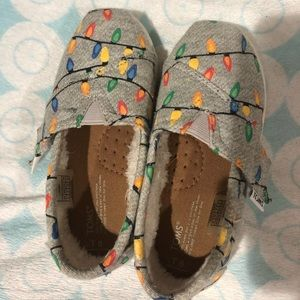 Toddler toms Christmas light shoes size 8